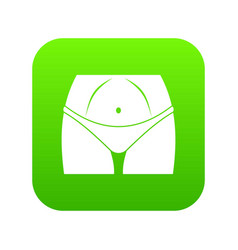slim woman body in panties icon digital green vector image