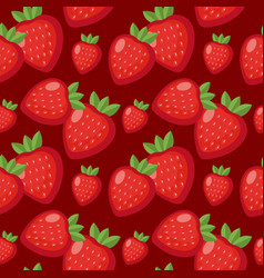 Strawberry seamless pattern berry endless vector
