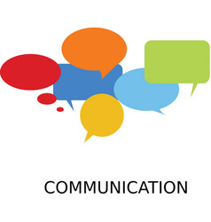 Team communication symbol vector