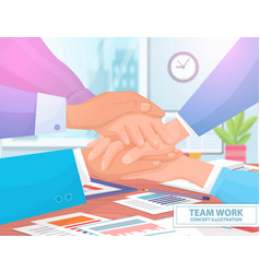 team work concept colorful vector image