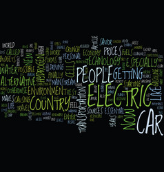 The importance of the electric car text vector