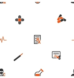 Therapy Tools Seamless Flat Wallpaper vector image