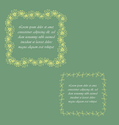 two colored floral frames vector image
