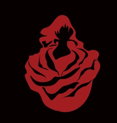Woman in the rose vector