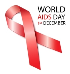 world aids day background with red ribbon aids vector image