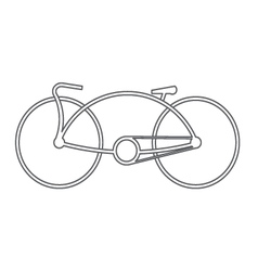 bicycle symbol design vector image vector image