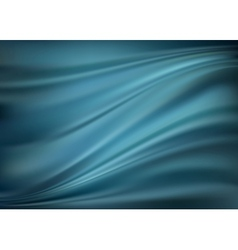 Blue abstract satin curtain background vector image vector image