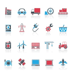 Business and industry icons vector image vector image