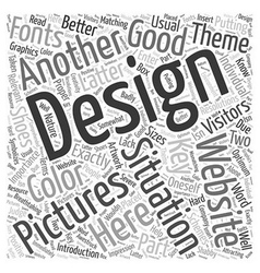 The Key to Better Websites B Design Word Cloud vector image vector image