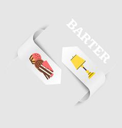 barter a natural exchange of food for furniture vector image
