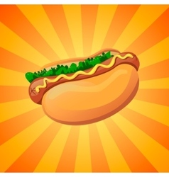 color hot dog vector image vector image