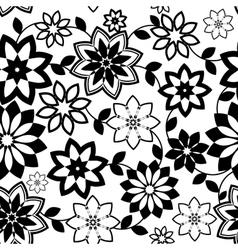 geometrical flowers seamless pattern vector image