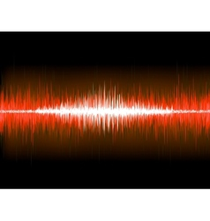 Sound waves on black background EPS 10 vector image