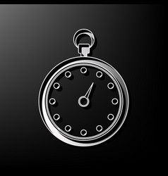 stopwatch sign gray 3d vector image