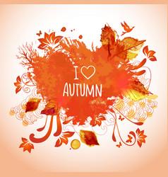 watercolor art for autumn activities vector image vector image