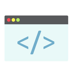 custom coding flat icon seo and development vector image vector image