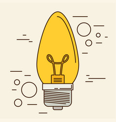 lightbulb isolated icon eps 10 vector image