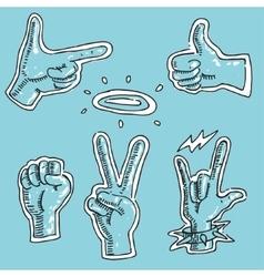 Set Symbol Hand Gesture vector image vector image