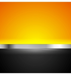 Abstract corporate bright background with metallic vector image vector image