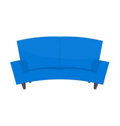 abstract creative funny cartoon sofa set isolated vector image