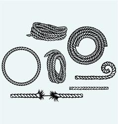 Nautical rope knots vector