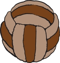old soccer ball vector image vector image