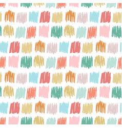primitive seamless pattern with freehand squares vector image