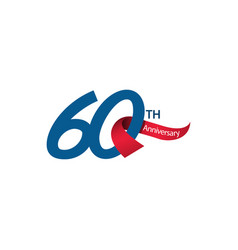 60 th anniversary template design vector