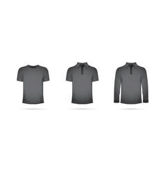 a set of black t-shirts vector image