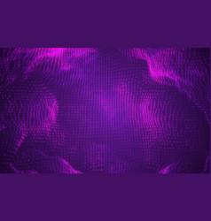 Abstract big data visualization purple vector