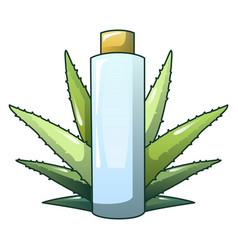 aloe vera plastic bottle icon cartoon style vector image