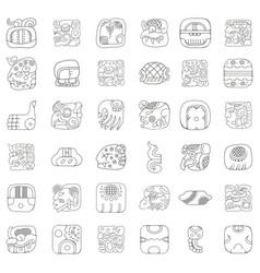 American indians maya and aztec ornaments vector