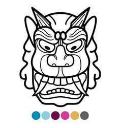 Angry african traditional mask vector