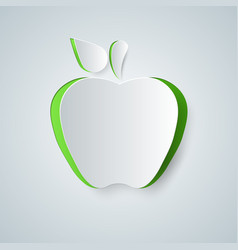 apple icon origami vector image