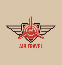 aviation training center emblem template with vector image