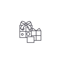 birthday gifts line icon sign vector image