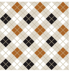 black and gold argyle harlequin seamless pattern vector image