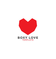 boxy love graphic design template vector image