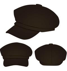 Brown stylish cap vector