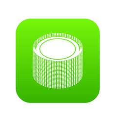 Building roll net icon green vector
