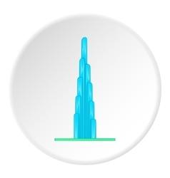 Burj Khalifa icon cartoon style vector image