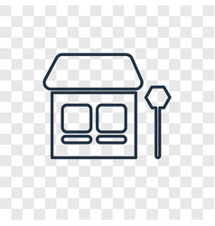 bus stop concept linear icon isolated on vector image