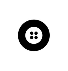 buttons icon with glyph style in black solid vector image