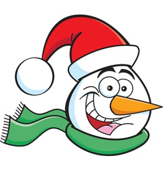 Cartoon Snowman Head vector