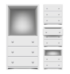 chest of drawers isolated on white vector image