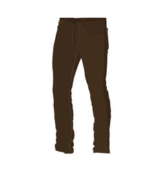 Chino brown long pants fashion style item vector
