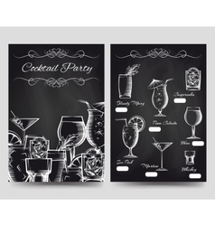 cocktail party brochure flyers template vector image