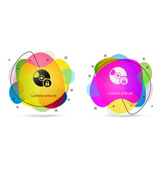 Color cd or dvd disk with closed padlock icon vector