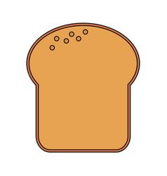 Color image cartoon slice of bread vector