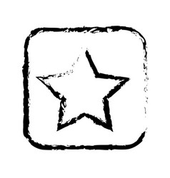 Contour symbol star icon vector
